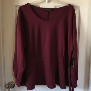 Eloquii | Long Sleeve Pull Over Top Sz 22